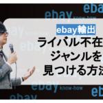 【ebay輸出】ライバル不在のジャンル(商材)を見つける方法